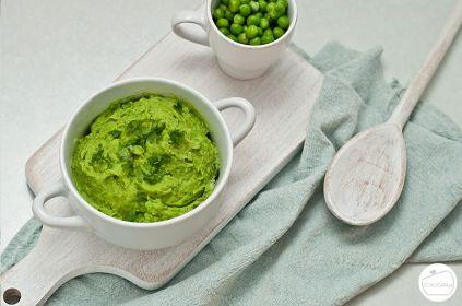 puree z zielonego groszku