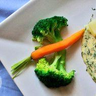 Warzywa na parze z serkiem topionym
