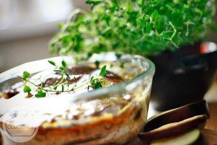 Musaka z bakłażanem i sosem beszamelowym