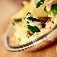 makaron z serem gorgonzola i brokułami