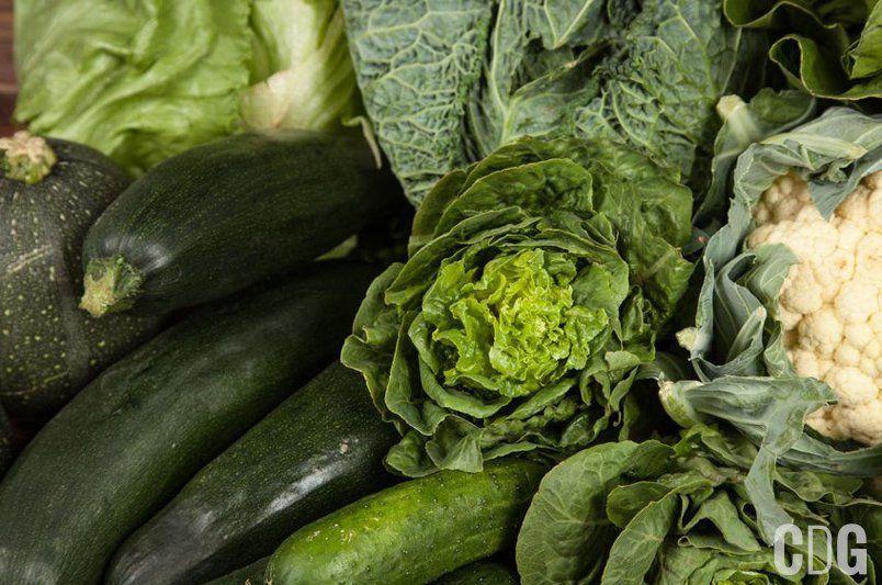 Tło z zielonych warzyw