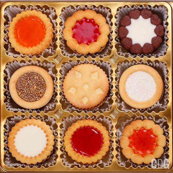 Kolorowe ciasteczka w muffinowych papierkach