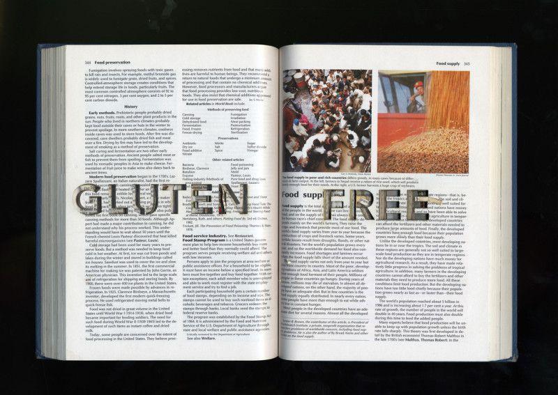 Księga z napisem gluten free