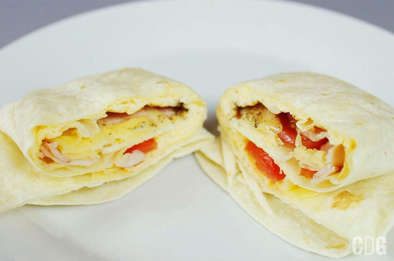 Jajeczne burrito w mikrofalówce