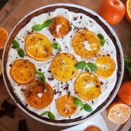 Tarta pomarańczowa zdjęcie z góry